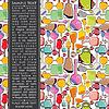 Векторный клипарт: цвет карты с бутылками
