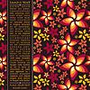 Векторный клипарт: открытка с декоративными цветами