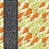 Векторный клипарт: Карточка с морковью