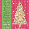 Vector clipart: New year card with tree