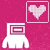 Векторный клипарт: Монстр с сердцем на цвет фона