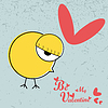 Vector clipart: Chicken with heart