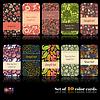 Векторный клипарт: Набор из десяти красочных карт осени