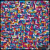 Векторный клипарт: Красочные лабиринт гранж