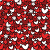 Vector clipart: Valentine`s day seamless pattern