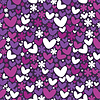 Vector clipart: Hearts and flowers - seamless pattern