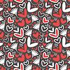 ID 3324127 | 하트와 꽃 - 원활한 패턴 | 벡터 클립 아트 | CLIPARTO
