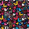 ID 3324129 | Herzen und Blumen - nahtloses Muster | Stock Vektorgrafik | CLIPARTO