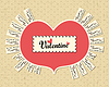 Vector clipart: Valentine day card
