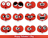 Vector clipart: Valentine hearts face