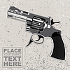 Vector clipart:  the weapon on grunge background