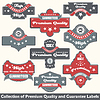 Vector clipart: Premium quality and guarantee label collection