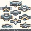 우수한 품질 및 보증 레이블 컬렉션 | Stock Vector Graphics