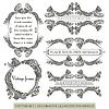 Векторный клипарт: каллиграфические элементы дизайна страницы и украшения