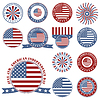 Vector clipart: Independence Day - 4 of July - set of icons