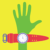 Vector clipart: Hand and watches