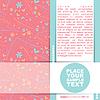 Vector clipart: Floral card