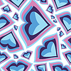 Vector clipart: Hearts - seamless pattern