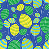Vector clipart: Colorful leaves - seamless pattern