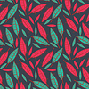 Vector clipart: Floral - seamless pattern