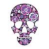 Vector clipart: Skull in flowers