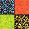 Vector clipart: Set of four butterfly seamless pattern