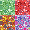 Vector clipart: Set of four decorative seamless