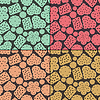 Vector clipart: Set of four cookies seamless pattern