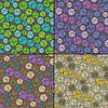 Vector clipart: Set of four floral seamless pattern