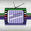 Vector clipart: retro tv on grunge background