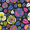 Flowers and leaves - seamless pattern | Stock Vector Graphics