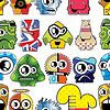 Vector clipart: Monsters seamless