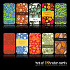 Vector clipart: Set of ten colorful autumn cards