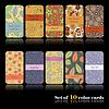 Set von zehn bunten Herbst-Karten | Stock Vektrografik