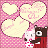 Vector clipart: Valentine Greeting Card with Two cute Teddy bears
