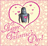 Valentinstag Grußkarte mit Roboter