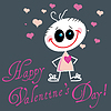 Valentine Greeting Card With Cute Little Baby