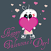 Vector clipart: Valentine Greeting Card With Cute Little Baby