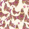 Seamless bird pattern | Stock Vector Graphics