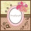 Vector clipart: Floral vintage frame