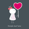 Vector clipart: Baby who gives red love's heart