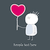 Vector clipart: Baby who gives red love`s heart