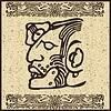 Векторный клипарт: Ацтеков индийского лица