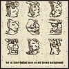 Set von Aztec indischen Gesicht