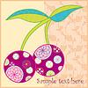 Vector clipart: Cherry Fruit Postcard