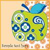 Vector clipart: apple
