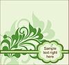 Vector clipart: Floral postcard