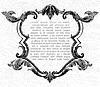 Vector clipart: Frame for Elegance vintage invitation card