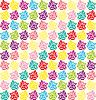 Vector clipart: Stylish beautiful bright floral seamless pattern.