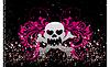 Abstract skull grunge background design